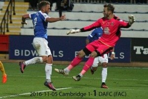 2016-11-05 Cambridge 1-1 DAFC (FAC)